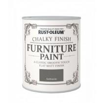 Rust-Oleum Chalky Furniture Paint (Matt) Anthracite - 750ml