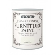 Rust-Oleum Chalky Furniture Paint (Matt) Antique White - 125ml