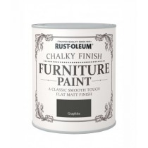 Rust-Oleum Chalky Furniture Paint (Matt)  Graphite - 125ml