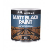 Blackfriar Matt Black Paint - 1L