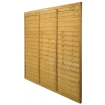 Forest Trade Lap Fencing Panel - 1.83m x 1.83 m (6\' x 6\')