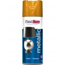 PlastiKote Metallic Spray Paint - Brass - 400ml