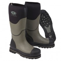Grubs Ceramic 5.0 Wellington Safety Boots - Black & Grey - Size 10