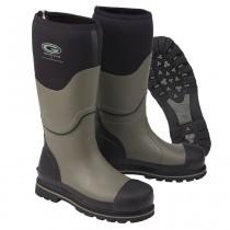 Grubs Ceramic 5.0 Wellington Safety Boots - Black & Grey - Size 8