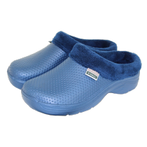 Town & Country Fleecy Cloggies - Navy - Size 8