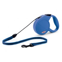 Flexi Classic Cord 2 Dog Lead - Medium (5m - 20kg) Blue