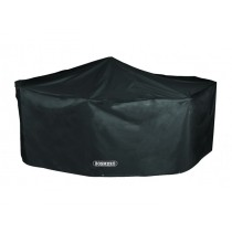 Bosmere D530 Storm Black 6 Seater Rectangular Pation Set Cover