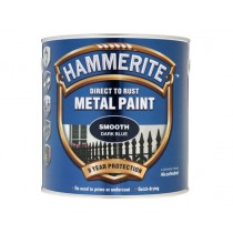 Hammerite Direct To Rust Metal Paint - Smooth Dark Blue - 2.5 Litre