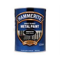 Hammerite Direct To Rust Metal Paint - Smooth Dark Green - 5 Litre