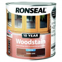 Ronseal 10 Year Woodstain - Dark Oak (Satin) 2.5L