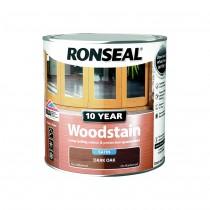 Ronseal 10 Year Woodstain - Dark Oak (Satin) 750ml