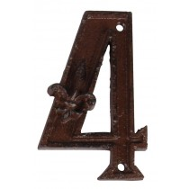 Fallen Fruits (DB62-4) Cast Iron House Number - 4