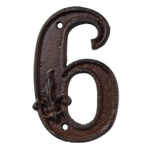Fallen Fruits (Db62-6) Cast Iron House Number - 6