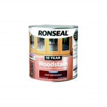 Ronseal 10 Year Woodstain - Deep Mahogany (Satin) 250ml