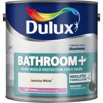 Dulux Bathroom Jasmine White - Soft Sheen Emulsion - 2.5L