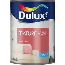 Dulux Feature Wall Coral Flair - Matt Emulsion - 1.25L
