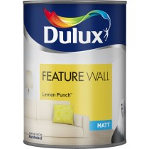 Dulux Feature Wall Lemon Punch - Matt Emulsion - 1.25L