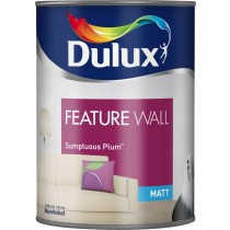 Dulux Feature Wall Sumptuous Plum - Matt Emulsion - 1.25L