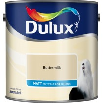 Dulux Buttermilk - Matt Emulsion Paint - 2.5L