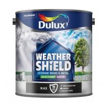 Dulux Weathershield Black - Satin - 2.5L