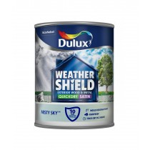 Dulux Weathershield Misty Sky - Satin - 750ml