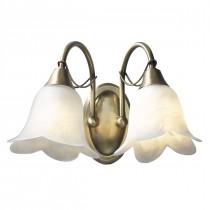 DAR DOU0975 Doublet Double Wall Light - Antique Brass