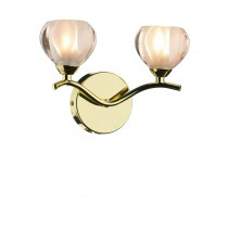 Dar Lighting CYN0940 Cynthia Double Wall Bracket - Polished Brass