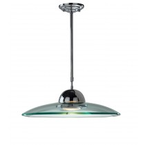 Dar Lighting HEM8650 Hemisphere Glass Pendant