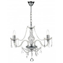 Dar Lighting KAT0350 Katie 3 Light Chandelier - Polished Chrome Acrylic Glass