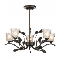 Dar Lighting PRU0563 Prunella 5 Light Semi Flush - Bronze