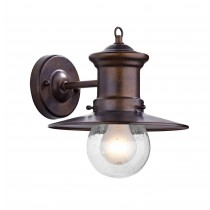 Dar Lighting SED1529 Sedgewick 1 Light Lantern - Bronze - Down Facing IP44