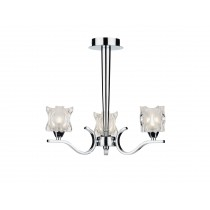 Dar Lighting ZOL0350 Zola 3 Light Semi Flush - Polished Chrome