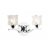 Dar Lighting ZOL0950 Zola Double Wall Bracket - Polished Chrome