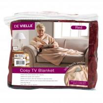 De Vielle (DEV762441) Cosy Tv Blanket - Red