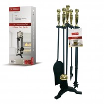 De Vielle (GUD035728) 5 Piece Turn Handle Companion Set - Black/Brass