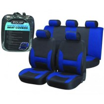 Equip EBL002 Premium Sports Seat Cover Set - Blue & Black