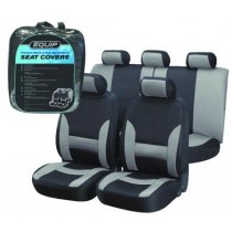 Equip EGS002 Premium Sports Seat Cover Set - Grey & Black