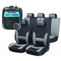 Equip EGS002 Premium Sports Seat Cover Set - Grey & Black