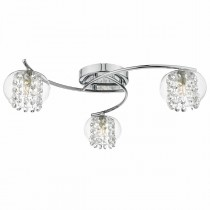 DAR ELM5350 Elma 3lt Semi Flush Ceiling Light - Polished Chrome