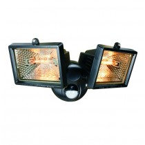Elro (ES120/2) 2 X Halogen Floodlight With Motion Detector - Black
