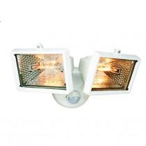 Elro (ES120/2W) 2 X Halogen Floodlight With Motion Detector - White