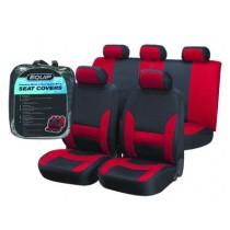 Equip ERS002 Premium Sports Seat Cover Set - Red & Black