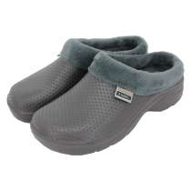 Town & Country Fleecy Cloggies - Charcoal - Size 10