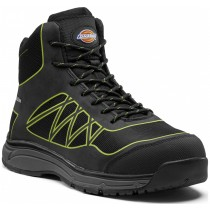 Dickies Phoenix Safety Boot (FC9526) Black/Lime - Size 7