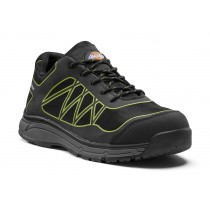 Dickies Phoenix Safety Trainer (FC9527) Black/Lime - Size 7