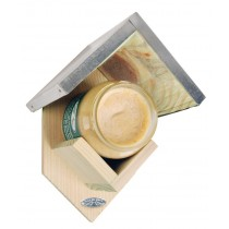 Fallen Fruits (FB257) Peanut Butter Feeder With Zinc Roof + Peanut Butter Jar