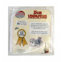 Harris Filters - Vin Papers - 15cm - Pack of 50