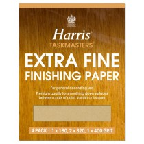 Harris Taskmasters Finishing Paper - Extra Fine - 4 Pack