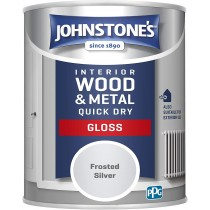 Johnstone's Interior Quick Dry Gloss - Frosted Silver - 750ml