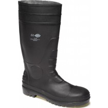 Dickies Safety Wellington Boot (Fw13105) Black - Size 8